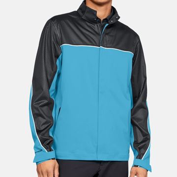 Picture of Under Armour Mens Storm Proof Rain Jacket - Blue/Black