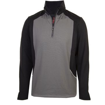 Picture of ProQuip Mens Tornado 1/4 Zip Pullover - Grey/Black