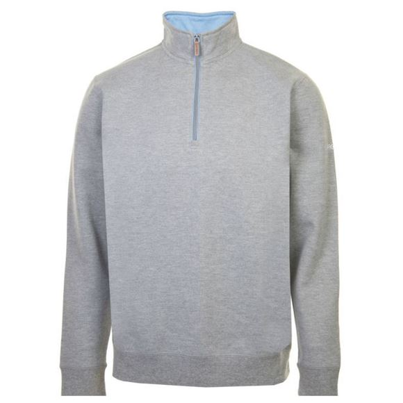Picture of ProQuip Mens Mistral 1/4 Zip Pullover - Light Grey