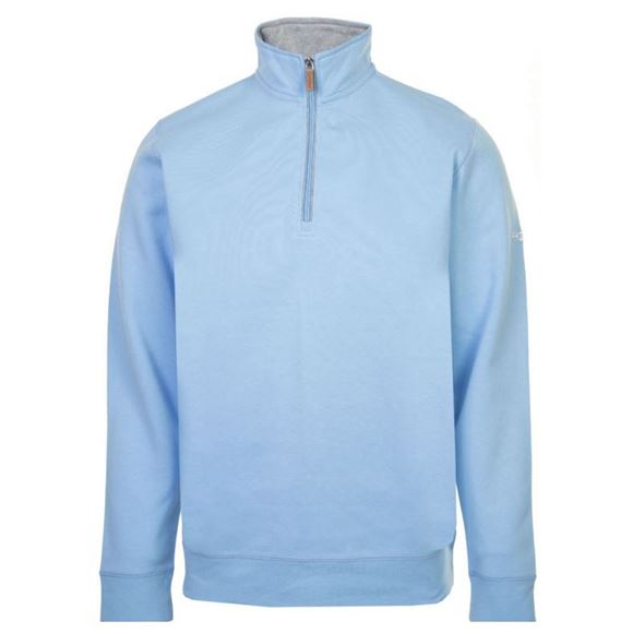 Picture of ProQuip Mens Mistral 1/4 Zip Pullover -  Light Blue