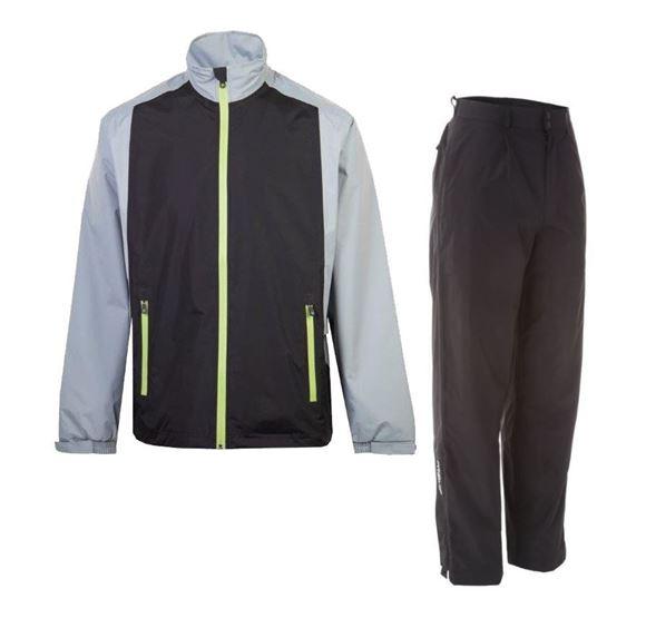 Picture of ProQuip Mens PX1 PAR Waterproof Suit - Black/Grey
