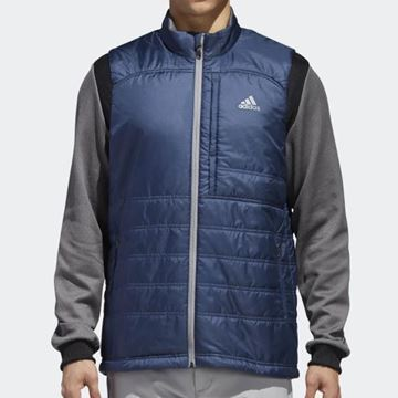 Picture of Adidas Mens Climaheat Frostguard Primaloft Jacket - Blue/Grey