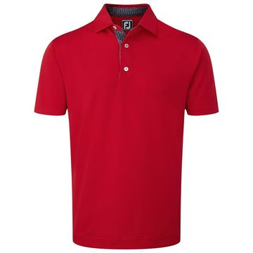 Picture of Footjoy Mens Stretch Pique wth Paisley Print Trim Polo Shirt - 92189