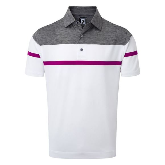Picture of Footjoy Mens Stretch Lisle with Spacedye Yoke Polo Shirt - 92168