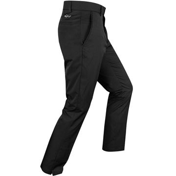 Picture of Greg Norman Hybrid Flat Front Tapered  Fit Trousers - Black