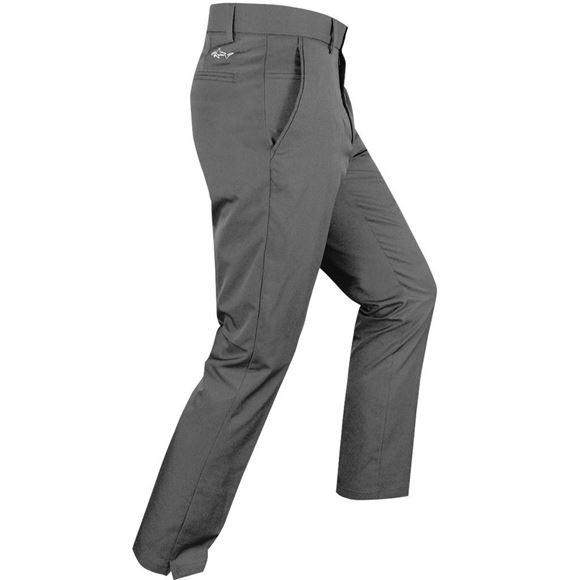 Picture of Greg Norman Hybrid Flat Front Tapered  Fit Trousers - Grey