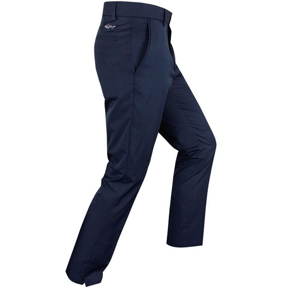 Picture of Greg Norman Hybrid Flat Front Tapered  Fit Trousers - Navy