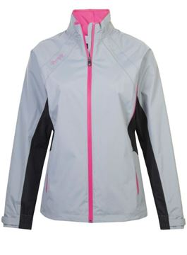Picture of ProQuip Ladies Aquastorm Ebony Waterproof Jacket - Grey/Black/Pink