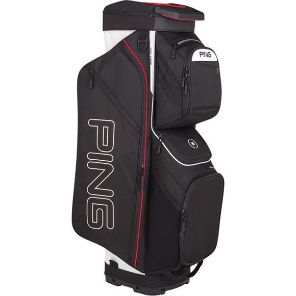 Picture of Ping Traverse Cart Bag 2019 - Black/White/Scarlet