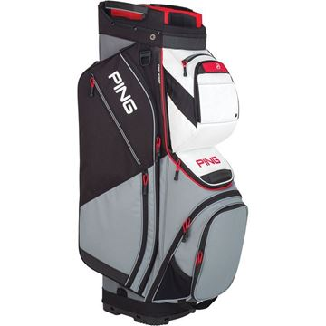 Picture of Ping Pioneer Cart Bag 2019 - Silver/White/Scarlet