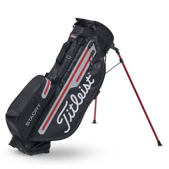 Picture of Titleist Players 4 Plus StaDry Stand Bag - Black/Red