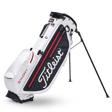 Picture of Titleist Players 4 Plus StaDry Stand Bag - White/Black/Red