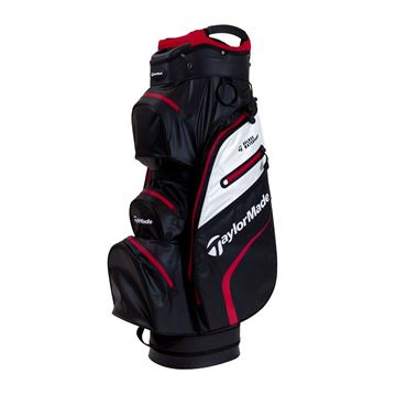 Picture of TaylorMade Deluxe Waterproof Cart Bag - Black/White/Red