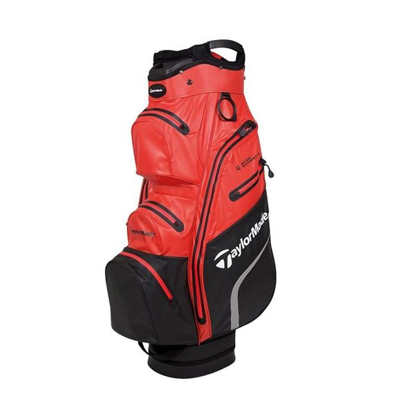 Picture of TaylorMade Deluxe Waterproof Cart Bag - Red/Black
