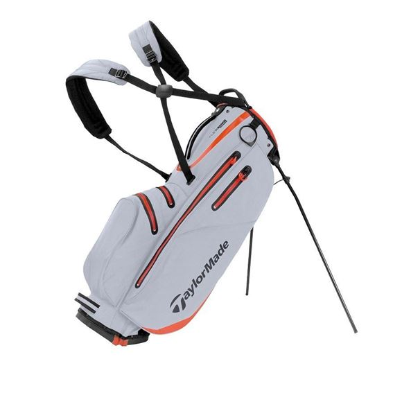 Picture of TaylorMade FlexTech Waterproof Stand Bag 2019 - Silver/Red