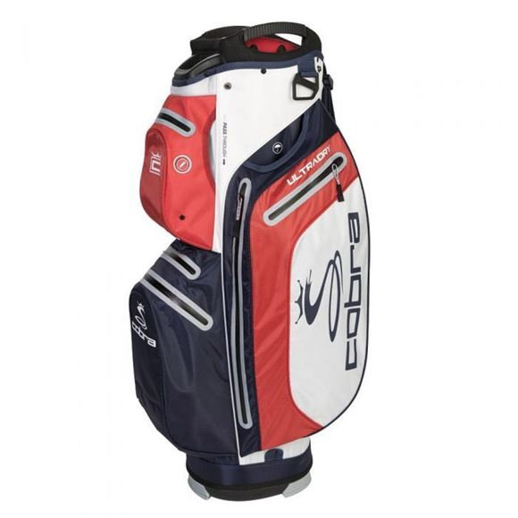 Picture of Cobra Ultradry Cart Bag 2019 - White/Navy/Red