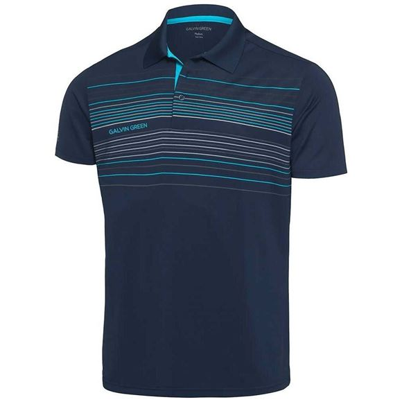 Picture of Galvin Green Mens Mateo Golf Shirt - Navy