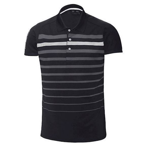 Picture of Galvin Green Mens Max Golf Shirt - Black / Grey