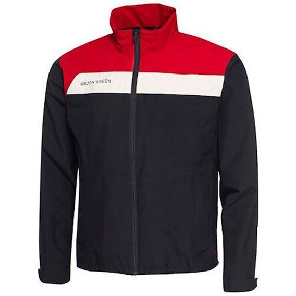 Austin Waterproof Jacket Black Red