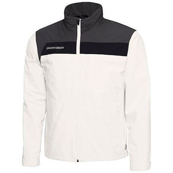 Picture of Galvin Green Mens Austin Waterproof Jacket - White/Grey