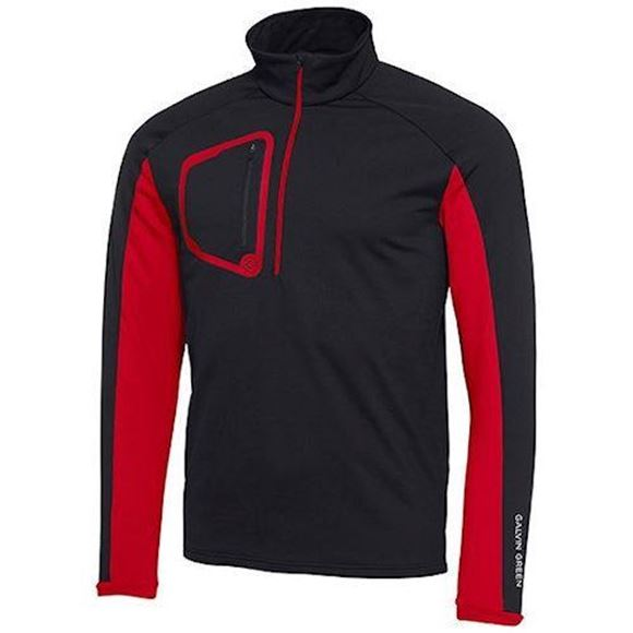 Picture of Galvin Green Mens Diego Insula Pullover - Black/Red