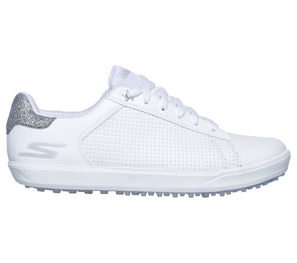 Picture of Skechers Ladies Go Golf Drive Shimmer Shoes - White