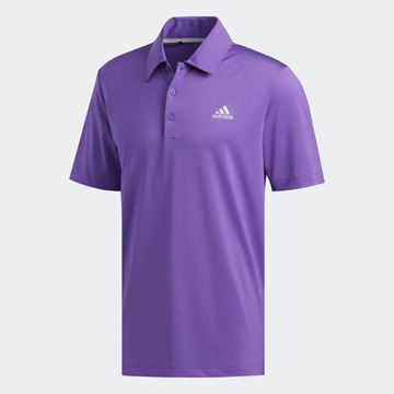 Picture of Adidas Mens Ultimate 365 Solid Polo Shirt - Purple