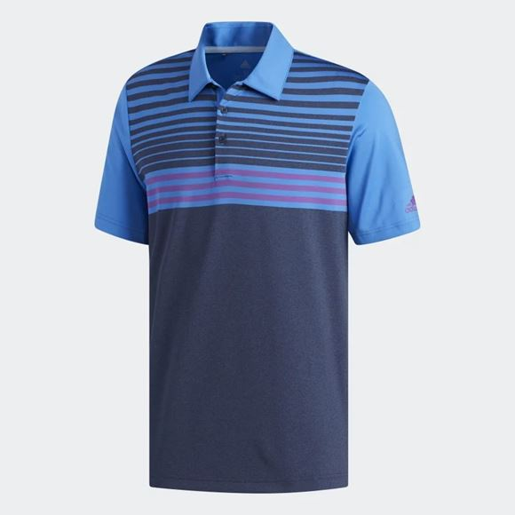 Picture of Adidas Mens Ultimate 365 3 Stripes Heathered  Polo Shirt - DW9175