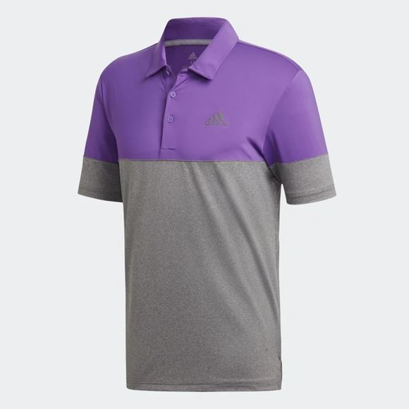 Picture of Adidas Mens Ultimate 365 Heather Blocked Polo Shirt - DZ5719