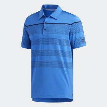 Picture of Adidas Mens Ultimate 365 Dash Stripe Polo Shirt - Blue/Navy