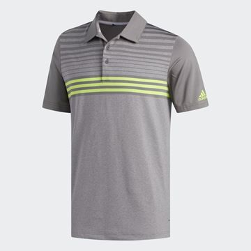 Picture of Adidas Mens Ultimate 365 3 Stripes Heathered Polo Shirt - DW9178