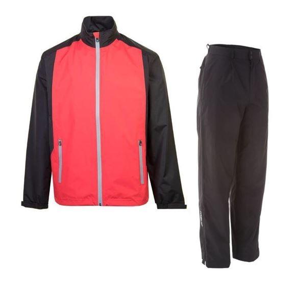 Picture of ProQuip Mens PX1 PAR Waterproof Suit - Red/Black