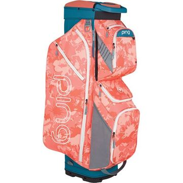 Picture of Ping Traverse Cart Bag 2019 - Storm/Coral Bloom