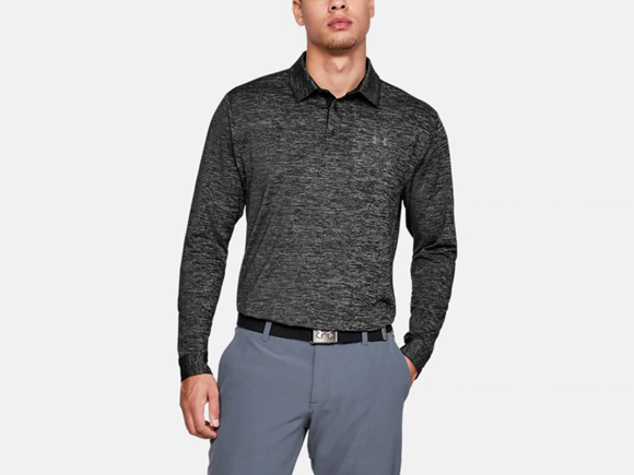 Picture of Under Armour Mens UA Long Sleeve Playoff 2.0 Polo 1345463-001