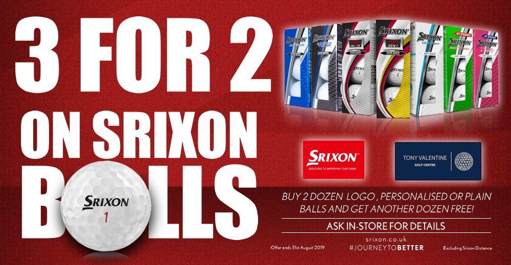 3 for 2 on Srixon Golf Balls