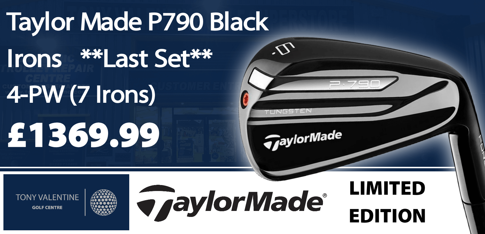 Limited Edition TaylorMade P790 Black Irons
