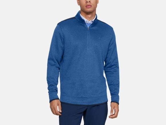 Picture of Under Armour Mens Sweater Fleece 1/2 Zip 1345464-510