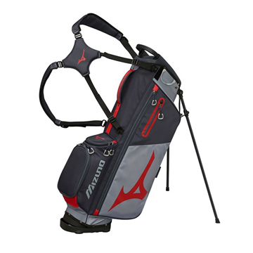 Picture of Mizuno BR-D3 Stand Bag - Grey/Red