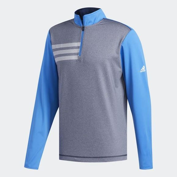 Picture of Adidas Mens 3 Stripes 1/4 Zip Pullover - DQ2271