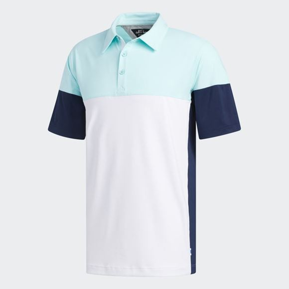 Picture of Adidas Mens adiPure Tech Segmented Polo Shirt - FJ9787