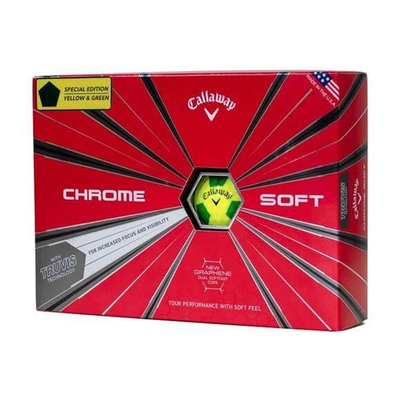 Picture of Callaway Chrome Soft Truvis Golf Balls 2018 Yellow/Green