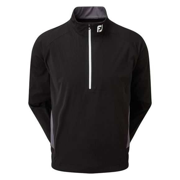 Picture of Footjoy Mens Hydroknit 1/2 Zip Rain Jacket - Black