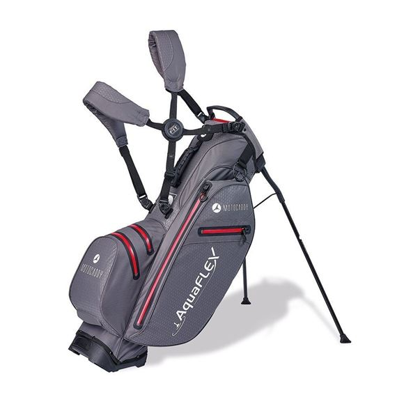 Picture of Motocaddy Aqua Flex Hybrid Stand Bag 2019 - Charcoal/Red