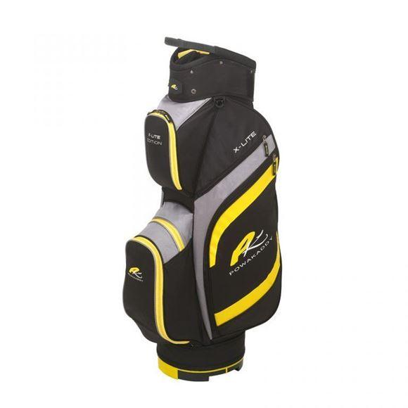 Picture of Powakaddy X-Lite Edition Cart Bag 2019 - Black/Yellow/Grey