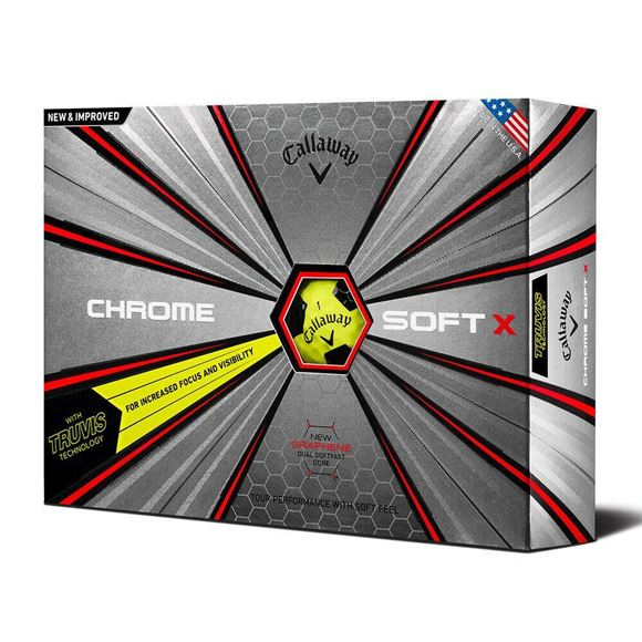 Picture of Callaway Chrome Soft X Truvis Golf Balls 2019 Black/Yellow
