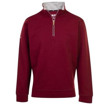 Picture of ProQuip Mens Mistral 1/4 Zip Pullover - Burgundy