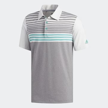 Picture of Adidas Mens Ultimate 365 3 Stripes Heathered Polo Shirt - DW9177