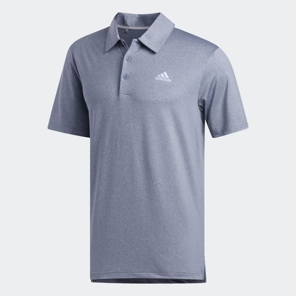 Picture of Adidas Mens Ultimate 365 2.0 Heather Polo Shirt - EC7053