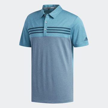 Picture of Adidas Mens Ultimate 365 Heather Blocked Polo Shirt - DZ8523