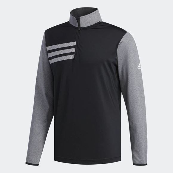 Picture of Adidas Mens 3 Stripes 1/4 Zip Pullover - DQ2274